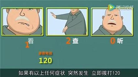 """""""中风120""""三步识别法视频"""