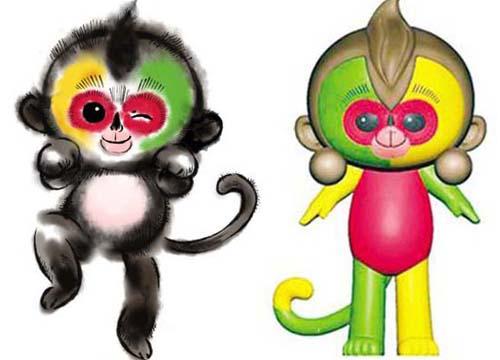 """吉祥物一发布,有不少网友好奇""""小猴子脸上多出来的两个球是什么?"""