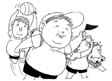 手绘儿童模特比例
